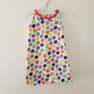 Hanna Andersson polka dot multicolor shift dress 8